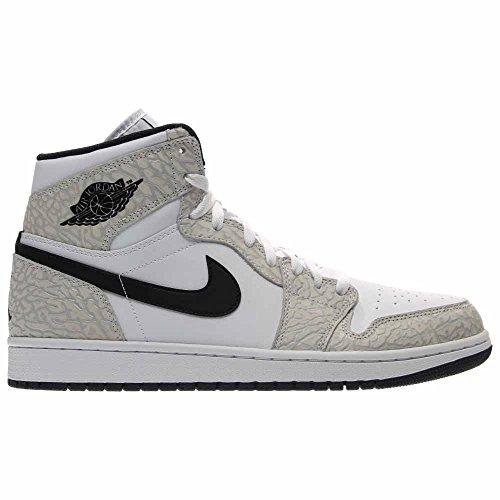 Nike Jordan Mens Air Jordan 1 Retro High White/Black Pure Platinum Basketball Shoe 11.5 Men US