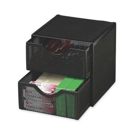 Rolodex Expressions Mesh Cube w/ Drawers ROL9E5600BLA -