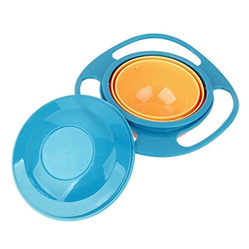 sea-junop Non Spill Feeding Toddler Gyro 360 Rotating Kid...
