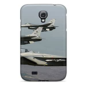High Quality F 15 Eagle Joined F 16 Fighting Falcons Case For Galaxy S4 / Perfect Case