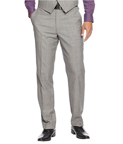 Alfani Red Label, Slim Fit Gray Sharkskin Pants 32x32 (32x32, Gray Sharkskin) by Alfani