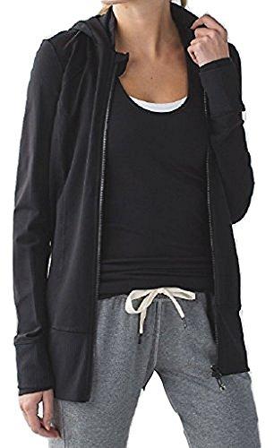Lululemon Daily Practice Jacket Black (8) (Hoodie Lululemon)