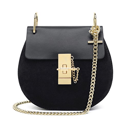 Frauen Lässig Elegant PU Leder Rein Farbe Schulter Taschen Handtasche Schwarz Groß Keral RAeQZ6
