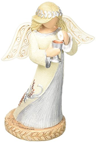 """Enesco Legacy of Love by Gregg Gift First Communion Angel Stone Resin Figurine, 4.5"""""""