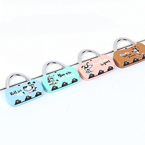 MONOMONO-Metal cartoon Mini 3 Digit Luggage Password Code Lock Padlock Pop