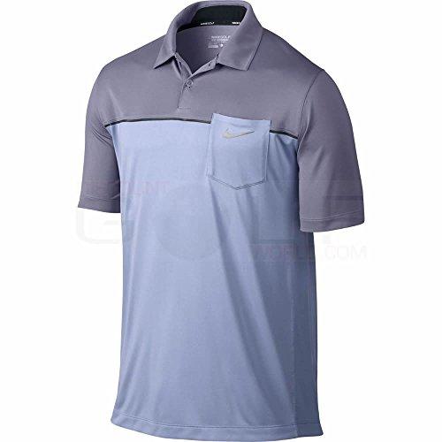 Nike Men's Innovation ColorBlock Pocket Polo-Large-Purple Fade/Iron Purple