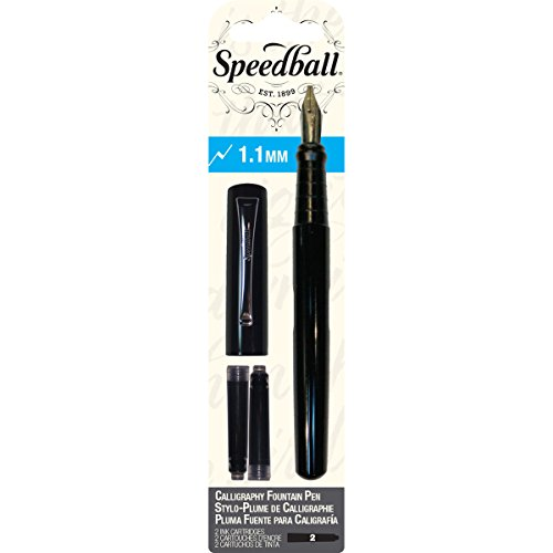 Save 14 speedball calligraphy fountain pen 1 1 mm nib Calligraphy pen amazon