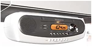 under cabinet kitchen cd clock radio magnavox mcr600 counter kitchen cd clock 27473