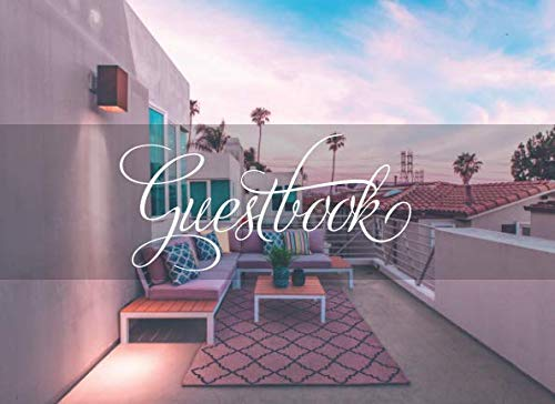 Guestbook: For Your Vacation Rental and House (Size: 8.25x6 Condo Patio Design) (Patio Inn)