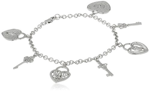 Pave Heart Lock - 9
