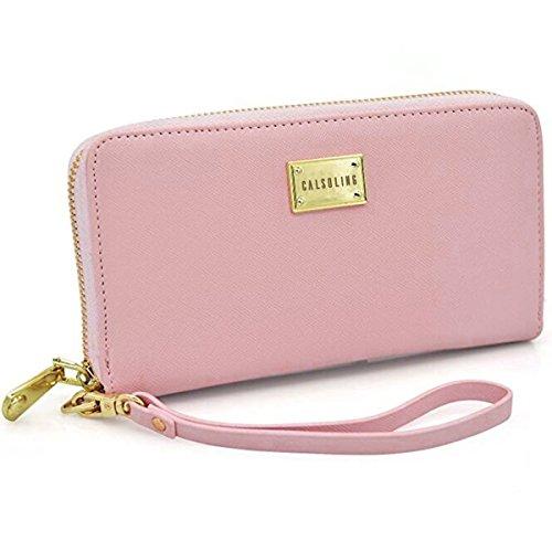 Women Wallet PU Leather Zipper Long Purse Credit Card Clutch Holder Strap -