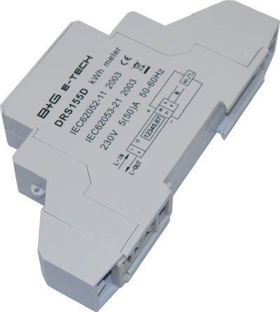 A 1000/imp.//kWh 50 B+G E-Tech DRS 155D Compteur num/érique alternatif avec /écran LCD pour montage sur rail avec interface S0 5