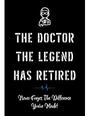 The Doctor The Legend Has Retired - Never Forget the Difference You've Made!: Funny Retirement Gifts for Doctors | Doctor Retirement Gifts for Men | Better Than a Card | Gift for Retiring Doctor