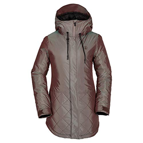 Volcom Women's Winrose Insulated Snow Jacket, Irridescent Magenta, Medium