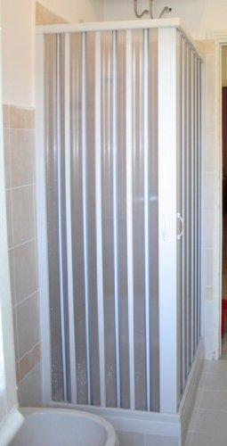 Mampara de ducha plegable en policloruro de vinilo pvc for Mampara ducha 70 x 90