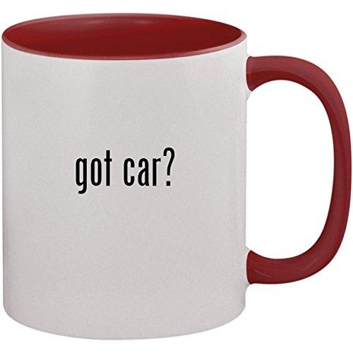 got car? - 11oz Ceramic Colored Inside and Handle Coffee Mug Cup, Maroon ()