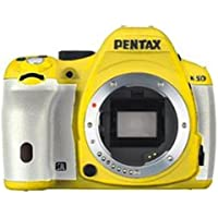 Pentax K-50 16MP Digital SLR Camera with 3-Inch LCD - Body Only (Yellow/White)