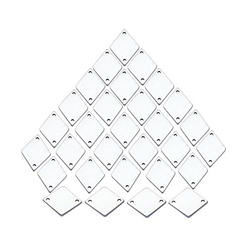 - Beadthoven 100pcs 304 Stainless Steel Rhombus Pendants with Two Hole Charms Links Bracelets Connector for Jewelry Making Dangle Earring Personalized Decoration Handmade Finding Supplies