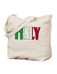 CafePress - Word Art Flag Italy - Natural Canvas Tote Bag, Cloth Shopping Bag