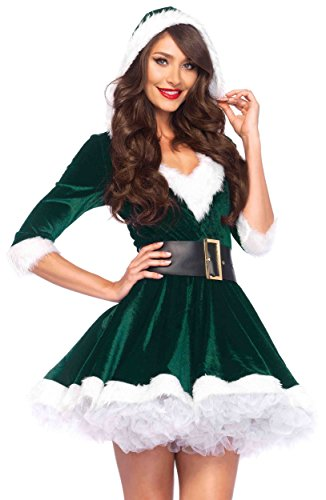 - Mrs Claus Adult Costume Elf Green - X-Large