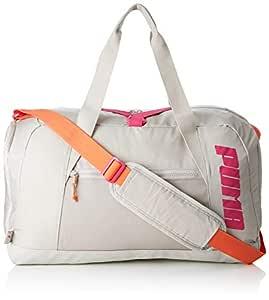 PUMA AT Duffle Bag Bolsa Deporte, Mujer, Silver Gray, OSFA