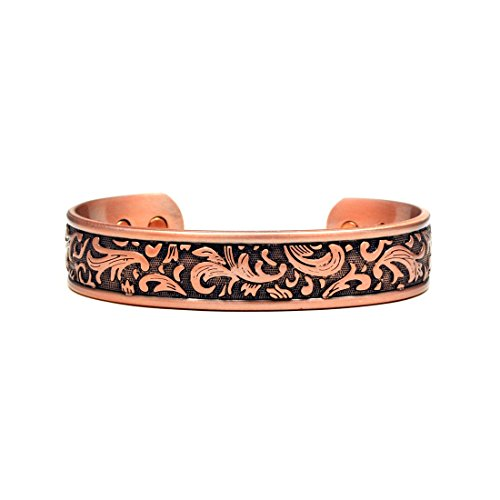 Paisley Copper (Accents Kingdom Copper Paisley Design Magnetic Therapy Bangle Golf Bracelet)