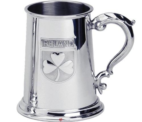 Ireland Badge 1Pint Pewter (Pewter Tankards Steins)