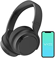 Wyze Noise-Cancelling Headphones, Wireless Over the Ear Bluetooth Headphones with Active Noise Cancellation, H