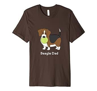 Mens Cute Fat Beagle Dad T-shirt 2XL Brown