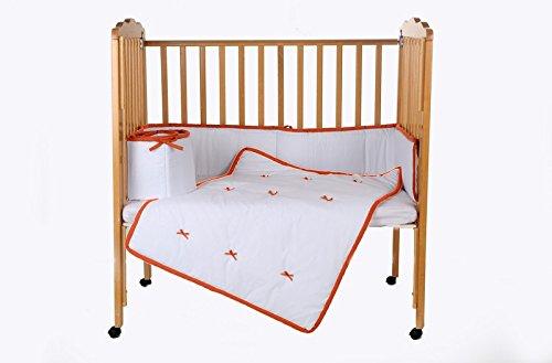 Baby Doll Bedding Forever Mine Junior Mini Crib/ Port-a-Crib Bedding Set, Orange by BabyDoll Bedding   B00ZC1I590