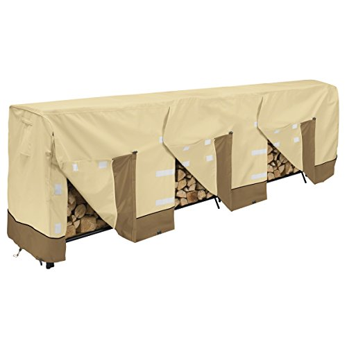 Classic Accessories 55-930-051501-00 Veranda Log Rack Cover, 12-Foot