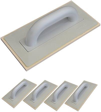 280x140mm DEWEPRO/® Fliesen Fugbrett Ausfugbrett mit 8mm Zellgummi Auflage Fugscheibe Verfugbrett Zellkautschuk 5er Set Fugenbrett
