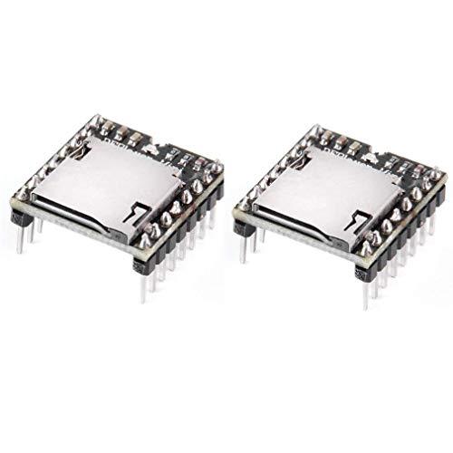 - HiLetgo 2pcs Arduino mp3 Player Mini MP3 Player Audio Voice Module TF Card U Disk Board DFPlayer Audio Voice Music Module