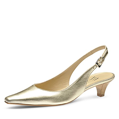 Evita Shoes Lia Escarpins Femme Cuir Lisse Or 36