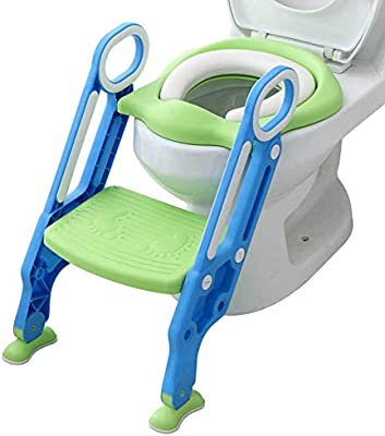 Pleasant Mangohood Potty Training Toilet Seat With Step Stool Ladder For Boy And Girl Baby Toddler Kid Children Toilet Training Seat Chair With Padded Seat Inzonedesignstudio Interior Chair Design Inzonedesignstudiocom
