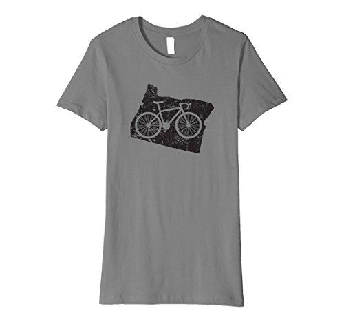Womens Cute Unique Vintage Oregon Cycling Gift T-Shirt Medium Slate
