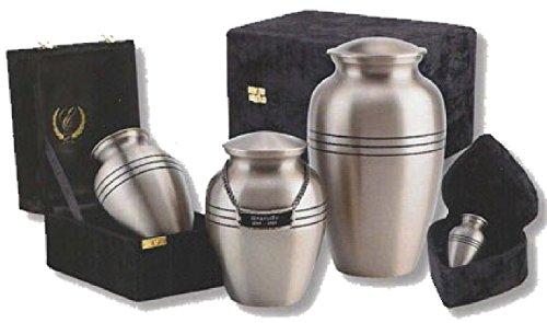 UrnConcern Classic Brushed Pewter Cremation Urn, 10