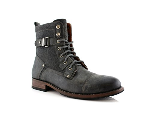 Polar Fox MIKE MPX88575 Casual Dress Boots with Buckles (10, Grey)