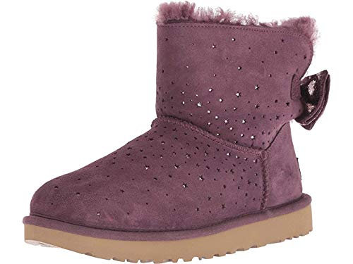 UGG Women's W STARGIRL Bow Mini Fashion Boot, Port, 8 M US (For Bows With Women Uggs)