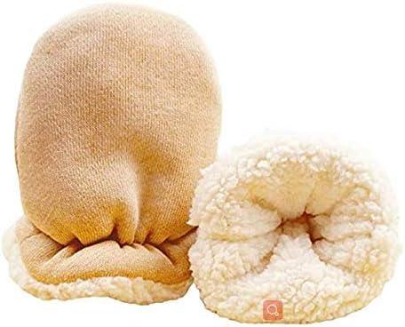 Baby Mittens Infant Gloves Newborn Mitten Gloves Sherpa Warm Cotton Mittens Baby Boys Girls Winter Mittens Hand Gloves Thermal Gloves Magic Snow Gloves Mittens 0-24 Months