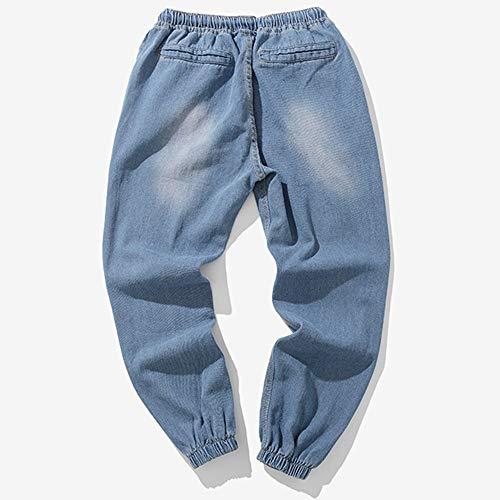 1986 Pants Elastici Con Blu Coulisse Ginli 1 Trousers Laterali Cargo Lunghi Casual Sport Uomo Pantaloni Moda Tasche Della Di qww7OSaR