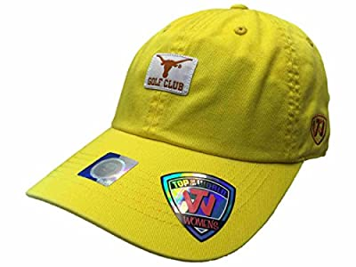 Top of the World Texas Longhorns TOW WOMEN Yellow Lady Luck Golf Club Adjustable Slouch Hat Cap by Top of the World