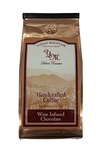 Wine Infused Chocolate Gourmet Ground Coffee by JumpinGoat Coffee (Chocolate Ground Wine)