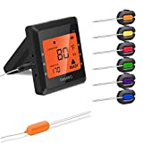 remote bbq thermometer iphone - Meat Thermometer, Silipower Bluetooth Grilling Cooking Food Thermometer with 6 Probes, Wireless Remote Digital Thermometer for Oven Kitchen Smoker BBQ