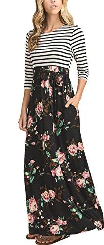 Sleeve Print Women Dress - 1