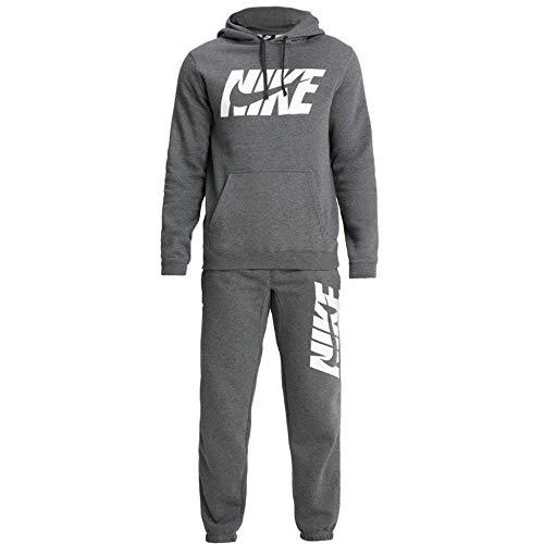 Nsw Heathr Nike Suit Tuta Gx M Trk Charcoal Ce Flc Uomo 7U4rx54qvn