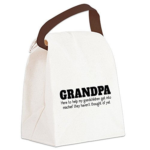 CafePress - Grandpa Mischief - Canvas Lunch Bag with Strap Handle