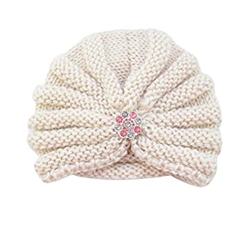 Newborn Baby Girls Boys Infant Warm Winter Knit Beanie Hat Crochet Ski Ball Cap