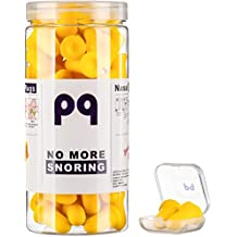 PQ Earplugs for Sleep: No More Snoring - 35 Pairs of Soft and Elastic Foam EarPlugs + Reusable Ear Plugs + Holding Case. The Kit is Designed for Couples, is Not Indifferent to The Partner's Comfort.