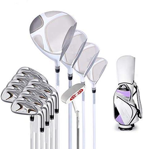 ゴルフクラブセット ゴルフクラブセットのエクササイズポールカーボンシャフト13ゴルフクラブセットレディース左グローブポール (Color : Purple, Size : 13)